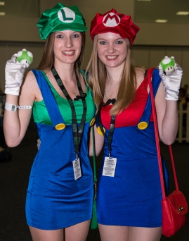 Captured at Adelaide OzComicCon 2013 Luigi and Mario sisters?