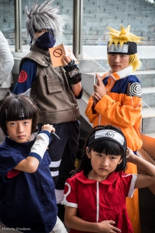A very cute family Naruto cosplay