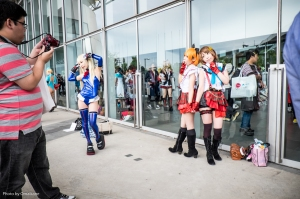 The start of the outside area containing most of the cosplayers