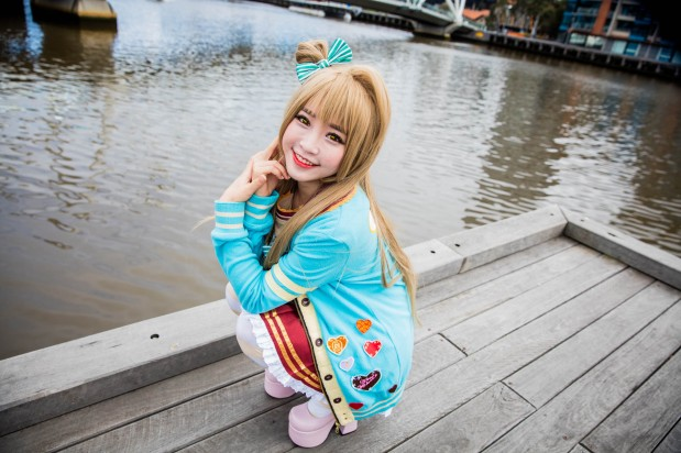 Tomia cosplaying as Kotori from the anime Love Live at #Madfest Melbourne 2016