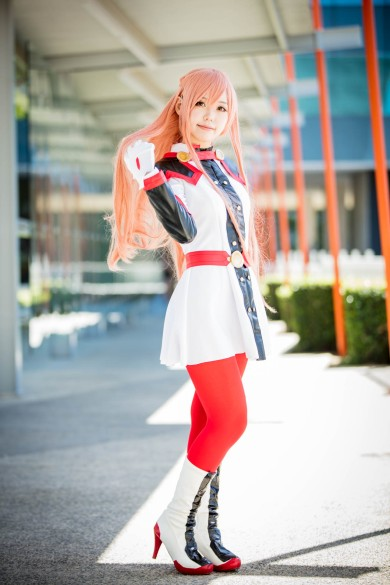 Angie cospalying as Asuna for SAO. Captured at Madfest Perth 2017, Australia