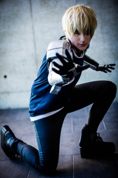 Knitemaya cosplaying as Genos from the anime One Punch Man at #Madfest Perth 2016